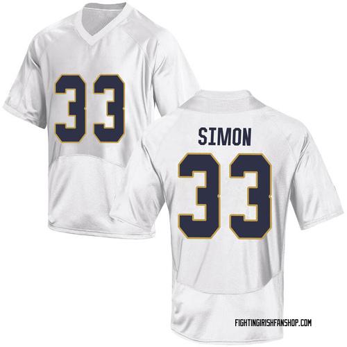 Men's Under Armour Shayne Simon Notre Dame Fighting Irish Game White Football College Jersey
