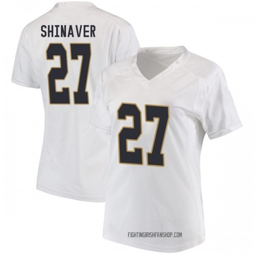 Women's Under Armour Arion Shinaver Notre Dame Fighting Irish Game White Football College Jersey