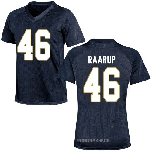 Women's Under Armour Axel Raarup Notre Dame Fighting Irish Game Navy Blue Football College Jersey