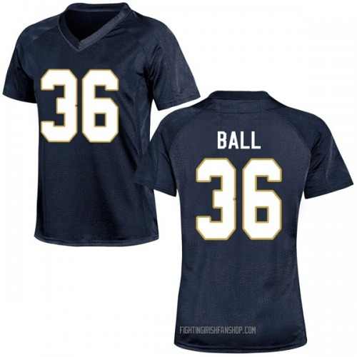 Women's Under Armour Brian Ball Notre Dame Fighting Irish Game Navy Blue Football College Jersey