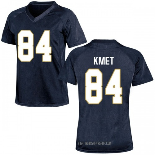 Women's Under Armour Cole Kmet Notre Dame Fighting Irish Game Navy Blue Football College Jersey