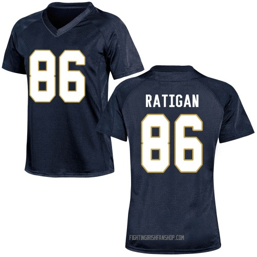 Women's Under Armour Conor Ratigan Notre Dame Fighting Irish Game Navy Blue Football College Jersey
