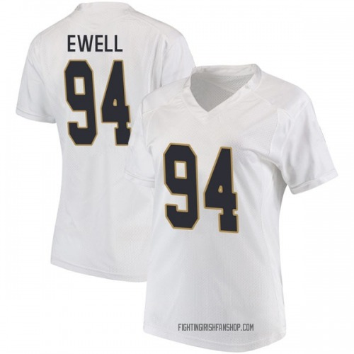 Women's Under Armour Darnell Ewell Notre Dame Fighting Irish Game White Football College Jersey