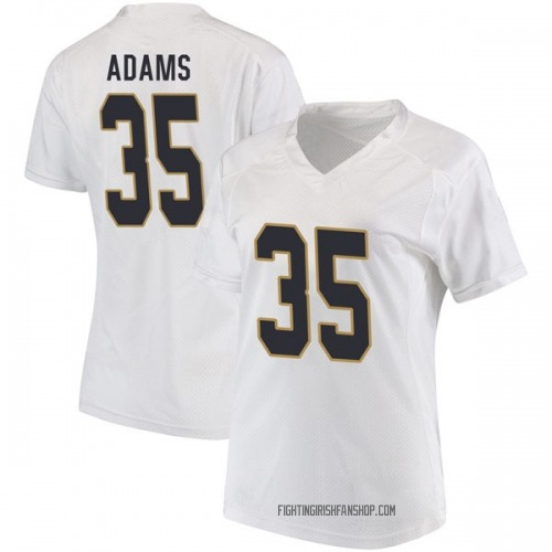 Women's Under Armour David Adams Notre Dame Fighting Irish Game White Football College Jersey