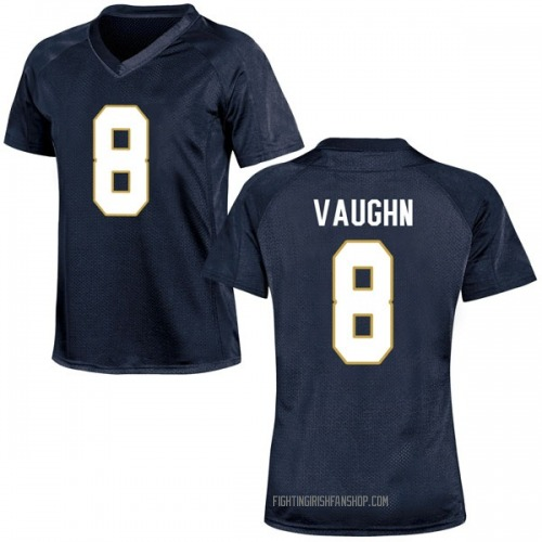 Women's Under Armour Donte Vaughn Notre Dame Fighting Irish Replica Navy Blue Football College Jersey