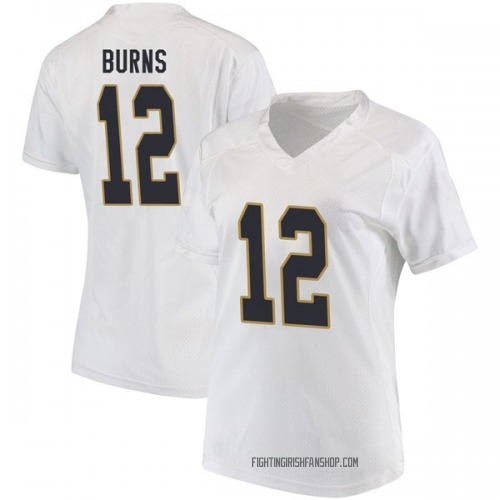 Women's Under Armour Elijah Burns Notre Dame Fighting Irish Replica White Football College Jersey