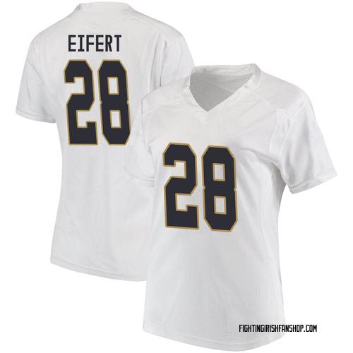 Women's Under Armour Griffin Eifert Notre Dame Fighting Irish Game White Football College Jersey