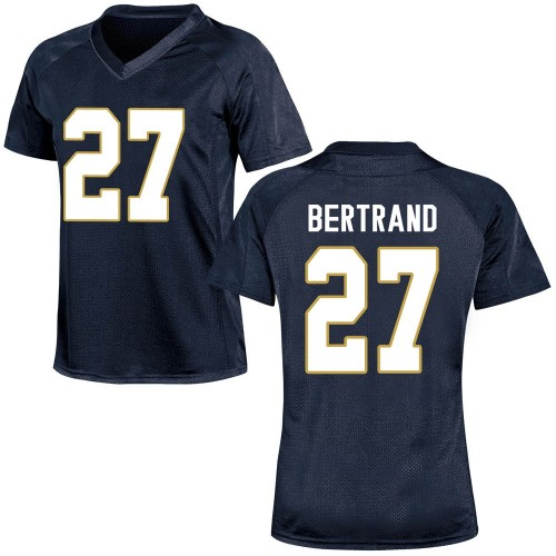 Women's Under Armour JD Bertrand Notre Dame Fighting Irish Game Navy Blue Football College Jersey