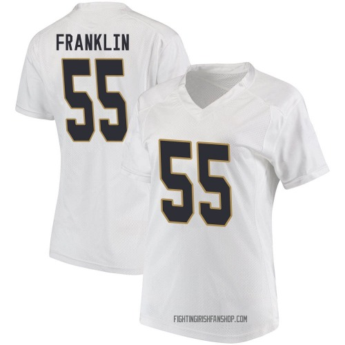 Women's Under Armour Jamion Franklin Notre Dame Fighting Irish Game White Football College Jersey