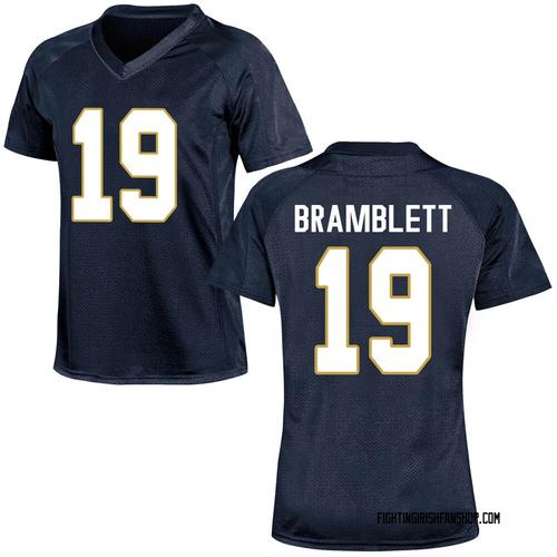 Women's Under Armour Jay Bramblett Notre Dame Fighting Irish Replica Navy Blue Football College Jersey