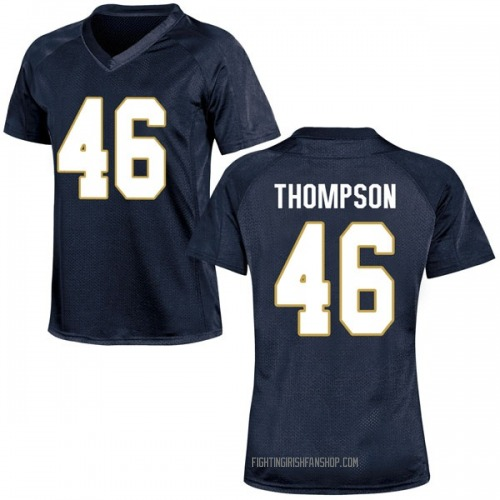 Women's Under Armour Jimmy Thompson Notre Dame Fighting Irish Replica Navy Blue Football College Jersey