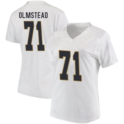 Women's Under Armour John Olmstead Notre Dame Fighting Irish Game White Football College Jersey