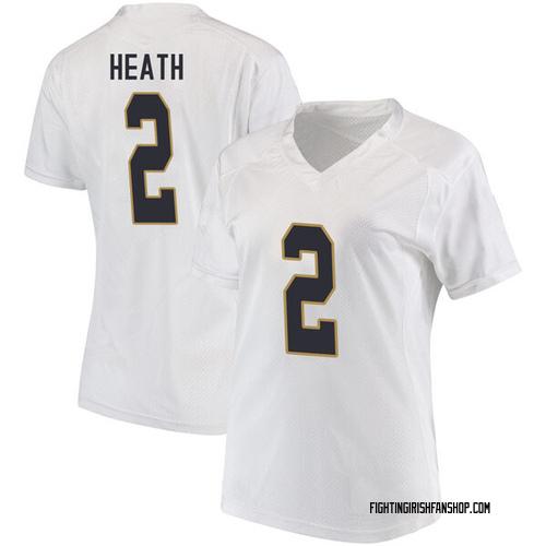 Women's Under Armour Jordan Genmark Heath Notre Dame Fighting Irish Game White Football College Jersey