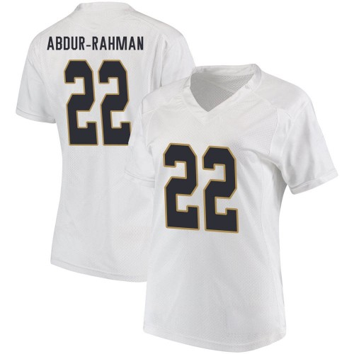 Women's Under Armour Kendall Abdur-Rahman Notre Dame Fighting Irish Game White Football College Jersey