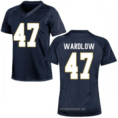 Women's Under Armour Kofi Wardlow Notre Dame Fighting Irish Replica Navy Blue Football College Jersey