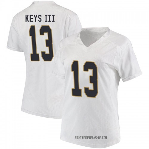 Women's Under Armour Lawrence Keys III Notre Dame Fighting Irish Game White Football College Jersey