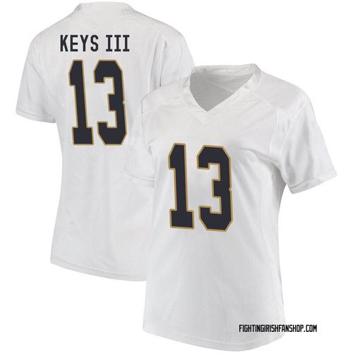 Women's Under Armour Lawrence Keys III Notre Dame Fighting Irish Replica White Football College Jersey