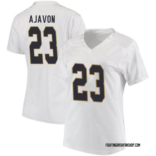 Women's Under Armour Litchfield Ajavon Notre Dame Fighting Irish Replica White Football College Jersey