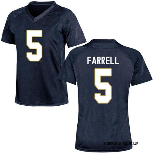 Women's Under Armour Matt Farrell Notre Dame Fighting Irish Game Navy Blue Football College Jersey