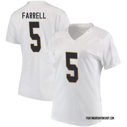 Women's Under Armour Matt Farrell Notre Dame Fighting Irish Replica White Football College Jersey
