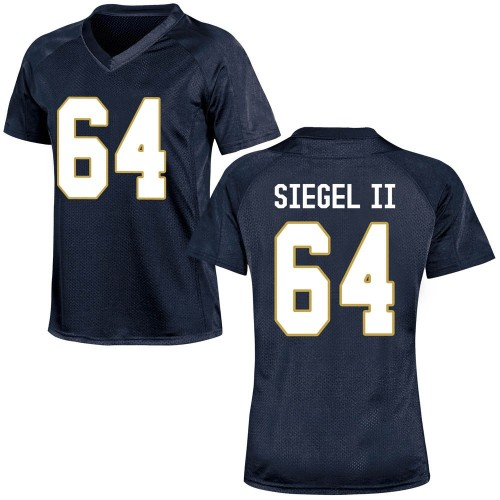 Women's Under Armour Max Siegel Notre Dame Fighting Irish Game Navy Blue Football College Jersey