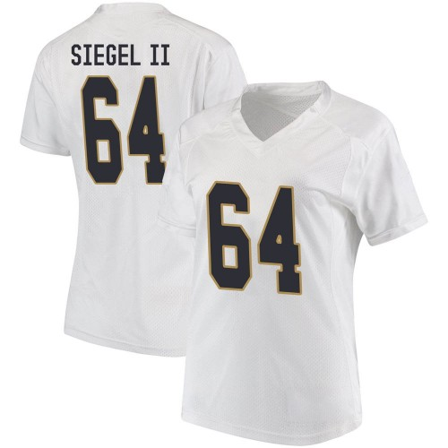 Women's Under Armour Max Siegel Notre Dame Fighting Irish Game White Football College Jersey