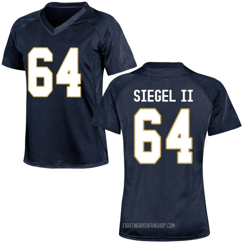Women's Under Armour Max Siegel Notre Dame Fighting Irish Replica Navy Blue Football College Jersey