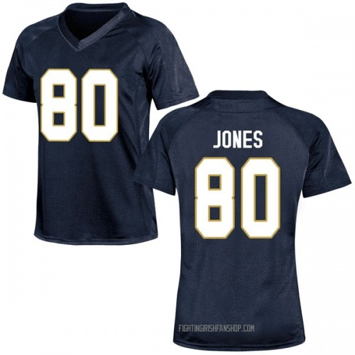 Women's Under Armour Micah Jones Notre Dame Fighting Irish Game Navy Blue Football College Jersey