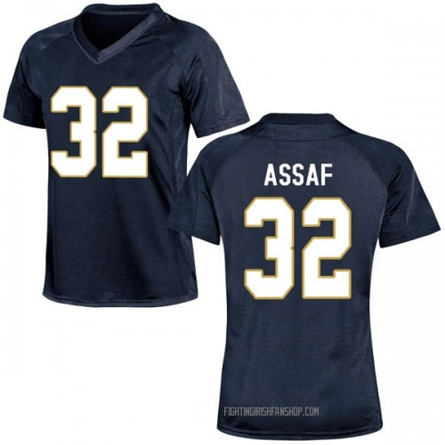 Women's Under Armour Mick Assaf Notre Dame Fighting Irish Game Navy Blue Football College Jersey
