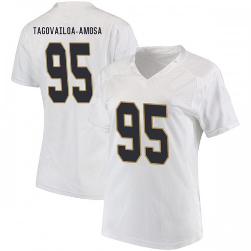 Women's Under Armour Myron Tagovailoa-Amosa Notre Dame Fighting Irish Replica White Football College Jersey