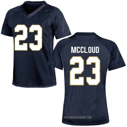 Women's Under Armour Nick McCloud Notre Dame Fighting Irish Game Navy Blue Custom Football College Jersey
