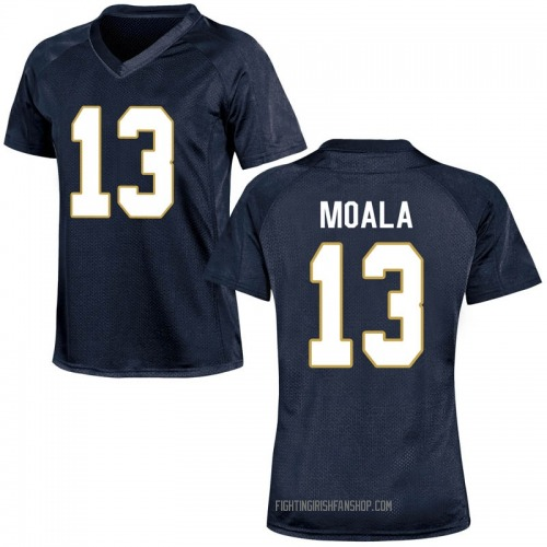 Women's Under Armour Paul Moala Notre Dame Fighting Irish Game Navy Blue Football College Jersey