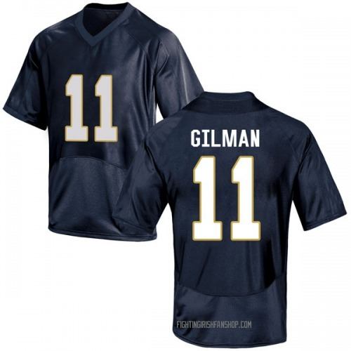 Youth Under Armour Alohi Gilman Notre Dame Fighting Irish Game Navy Blue Football College Jersey