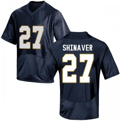 Youth Under Armour Arion Shinaver Notre Dame Fighting Irish Replica Navy Blue Football College Jersey