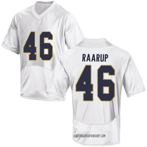 Youth Under Armour Axel Raarup Notre Dame Fighting Irish Game White Football College Jersey