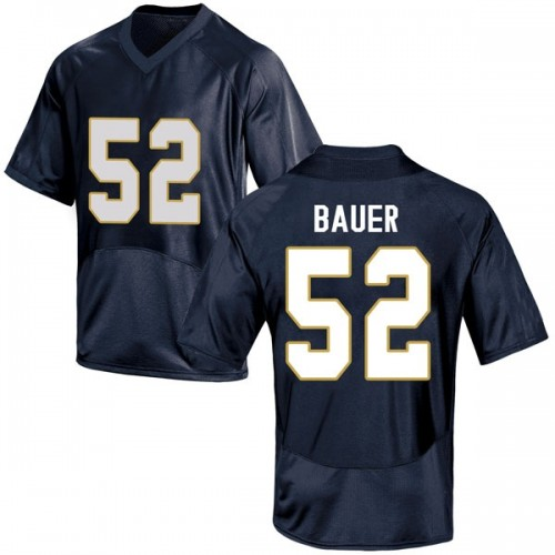 Youth Under Armour Bo Bauer Notre Dame Fighting Irish Replica Navy Blue Football College Jersey