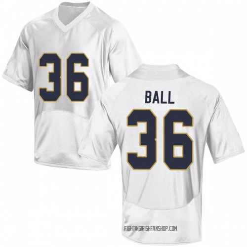 Youth Under Armour Brian Ball Notre Dame Fighting Irish Game White Football College Jersey