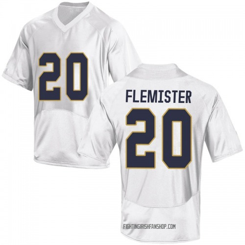 Youth Under Armour C'Bo Flemister Notre Dame Fighting Irish Replica White Football College Jersey