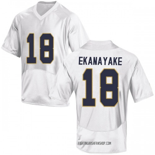 Youth Under Armour Cameron Ekanayake Notre Dame Fighting Irish Replica White Football College Jersey