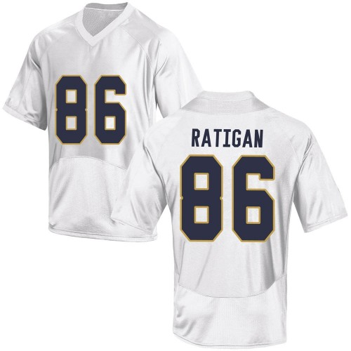 Youth Under Armour Conor Ratigan Notre Dame Fighting Irish Game White Football College Jersey