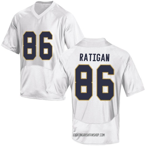 Youth Under Armour Conor Ratigan Notre Dame Fighting Irish Replica White Football College Jersey