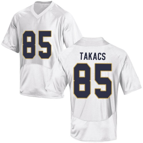 Youth Under Armour George Takacs Notre Dame Fighting Irish Replica White Football College Jersey