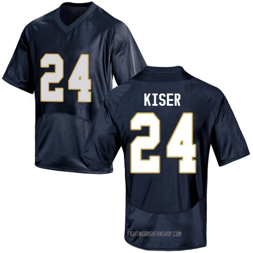 Youth Under Armour Jack Kiser Notre Dame Fighting Irish Game Navy Blue Football College Jersey