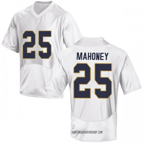 Youth Under Armour John Mahoney Notre Dame Fighting Irish Replica White Football College Jersey