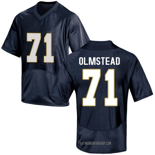 Youth Under Armour John Olmstead Notre Dame Fighting Irish Game Navy Blue Football College Jersey