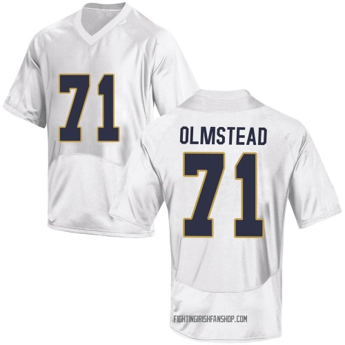 Youth Under Armour John Olmstead Notre Dame Fighting Irish Replica White Football College Jersey
