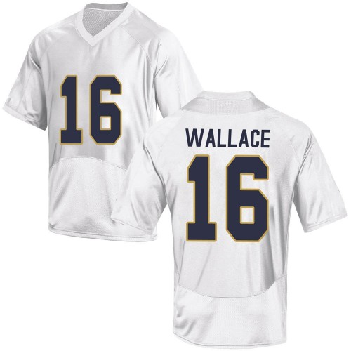 Youth Under Armour KJ Wallace Notre Dame Fighting Irish Game White Football College Jersey