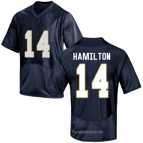 Youth Under Armour Kyle Hamilton Notre Dame Fighting Irish Game Navy Blue Football College Jersey
