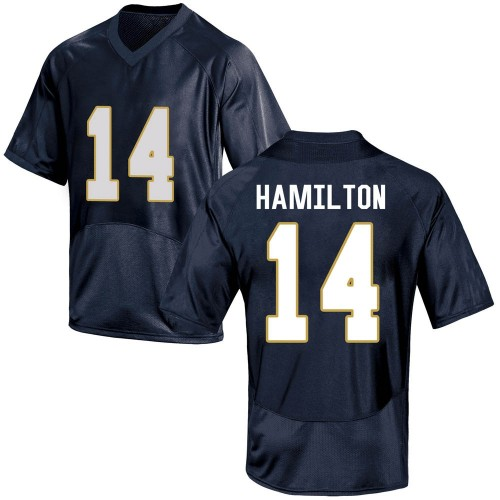 Youth Under Armour Kyle Hamilton Notre Dame Fighting Irish Replica Navy Blue Football College Jersey