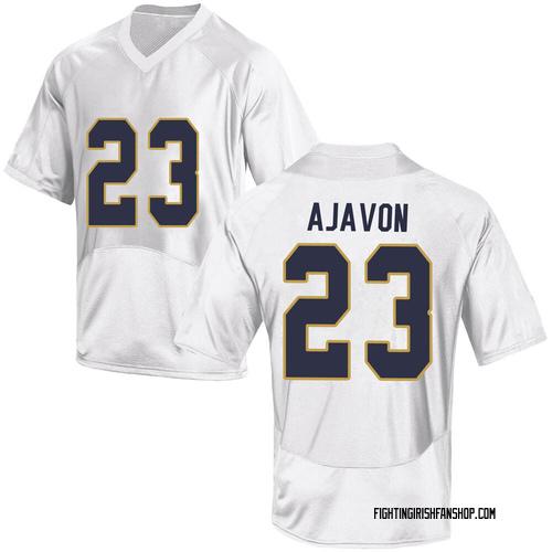 Youth Under Armour Litchfield Ajavon Notre Dame Fighting Irish Game White Football College Jersey